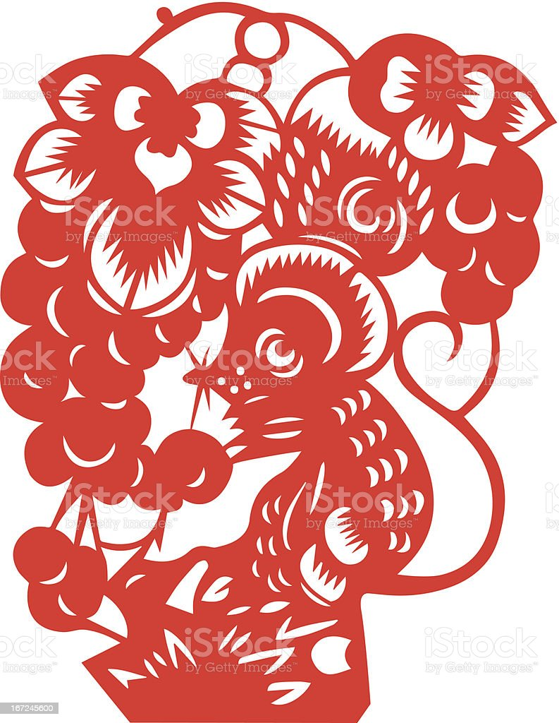Chinese Zodiac Sign for Year of Rat royalty-free stock vector art