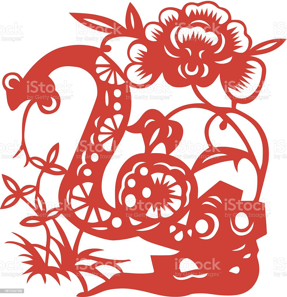 Chinese Zodiac Sign for Year of Snake royalty-free stock vector art