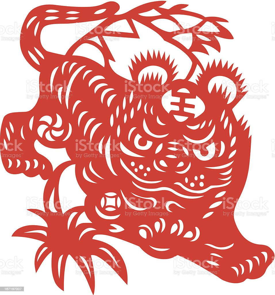 Chinese Zodiac Sign for Year of Tiger royalty-free stock vector art