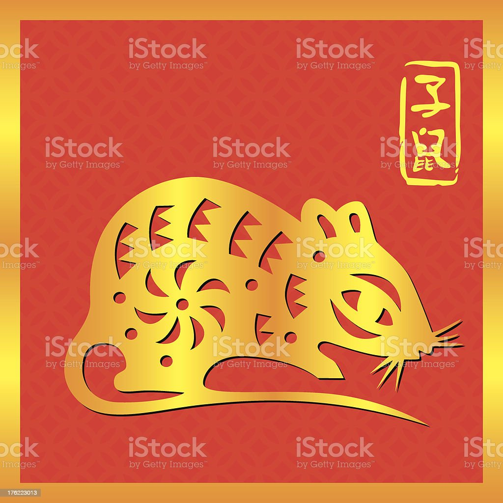Chinese Zodiac Sign of Rat royalty-free stock vector art