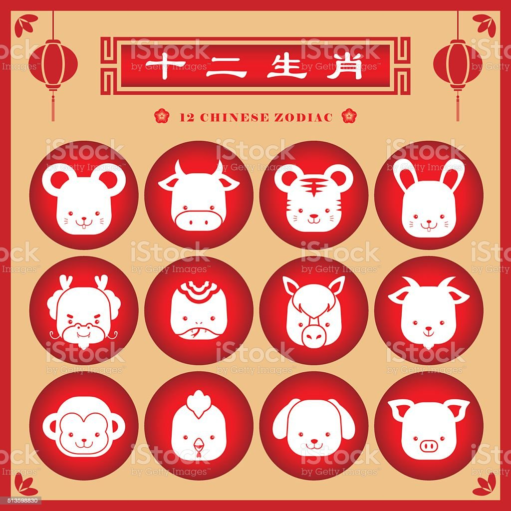 Chinese zodiac sign. vector art illustration