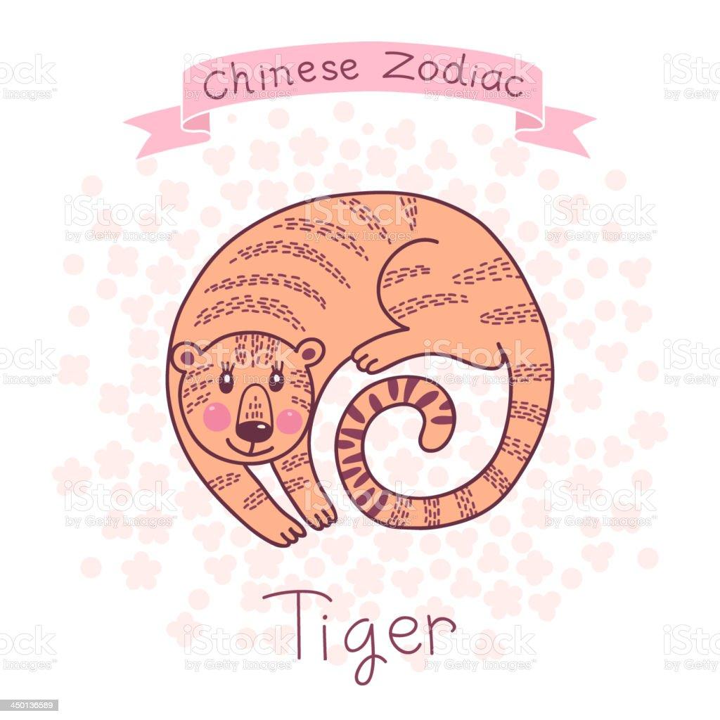Chinese Zodiac - Tiger royalty-free stock vector art