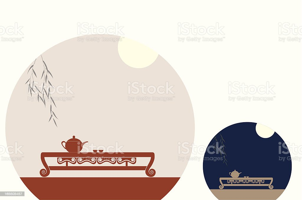 chinese_teacup vector art illustration