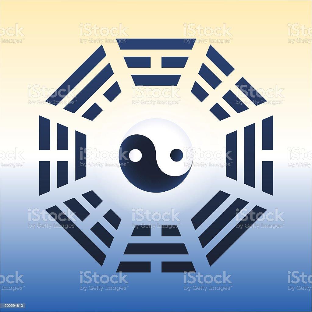 I Ching Trigrams vector art illustration