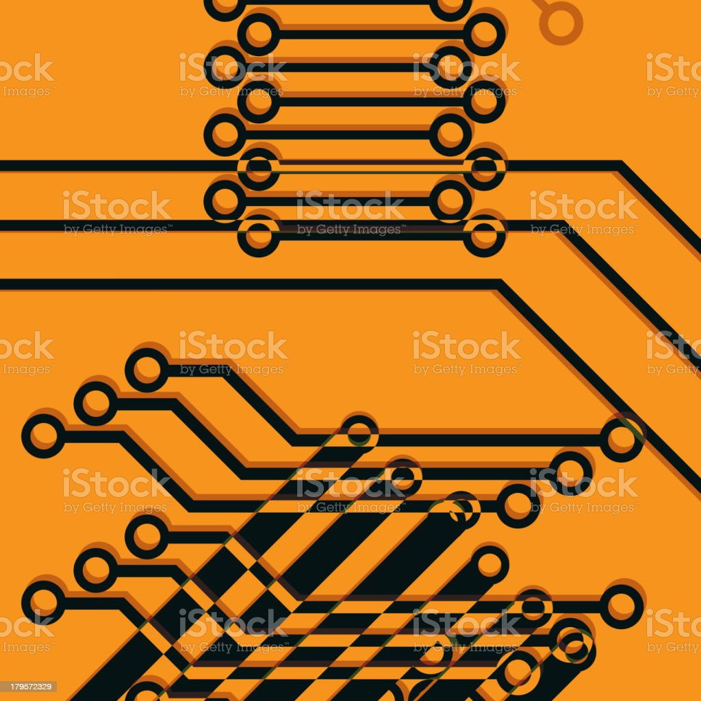 chip, microcircuit royalty-free stock vector art