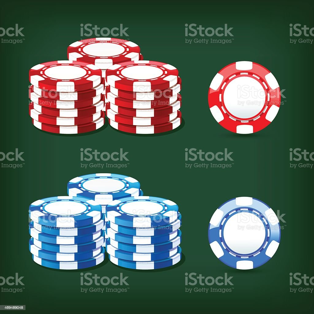 chips casino vector art illustration