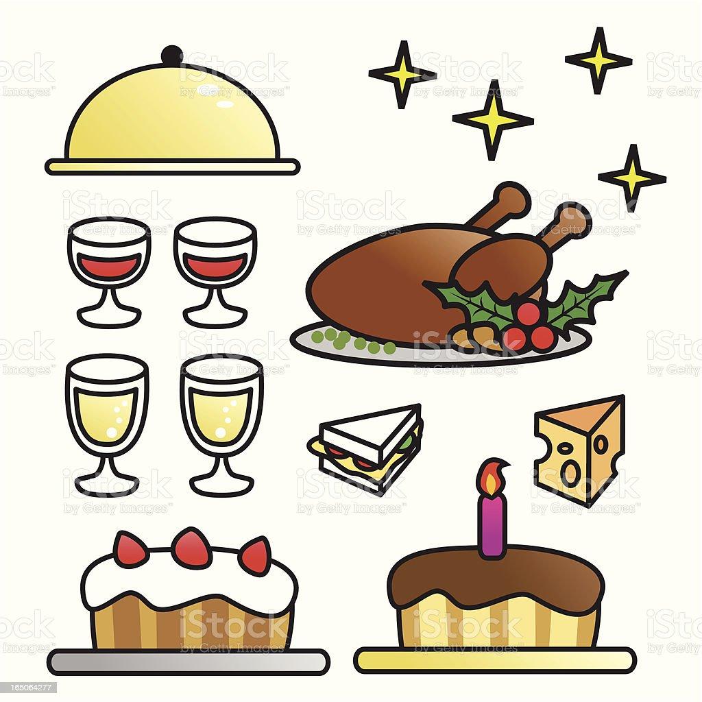 Chirstmas party food royalty-free stock vector art