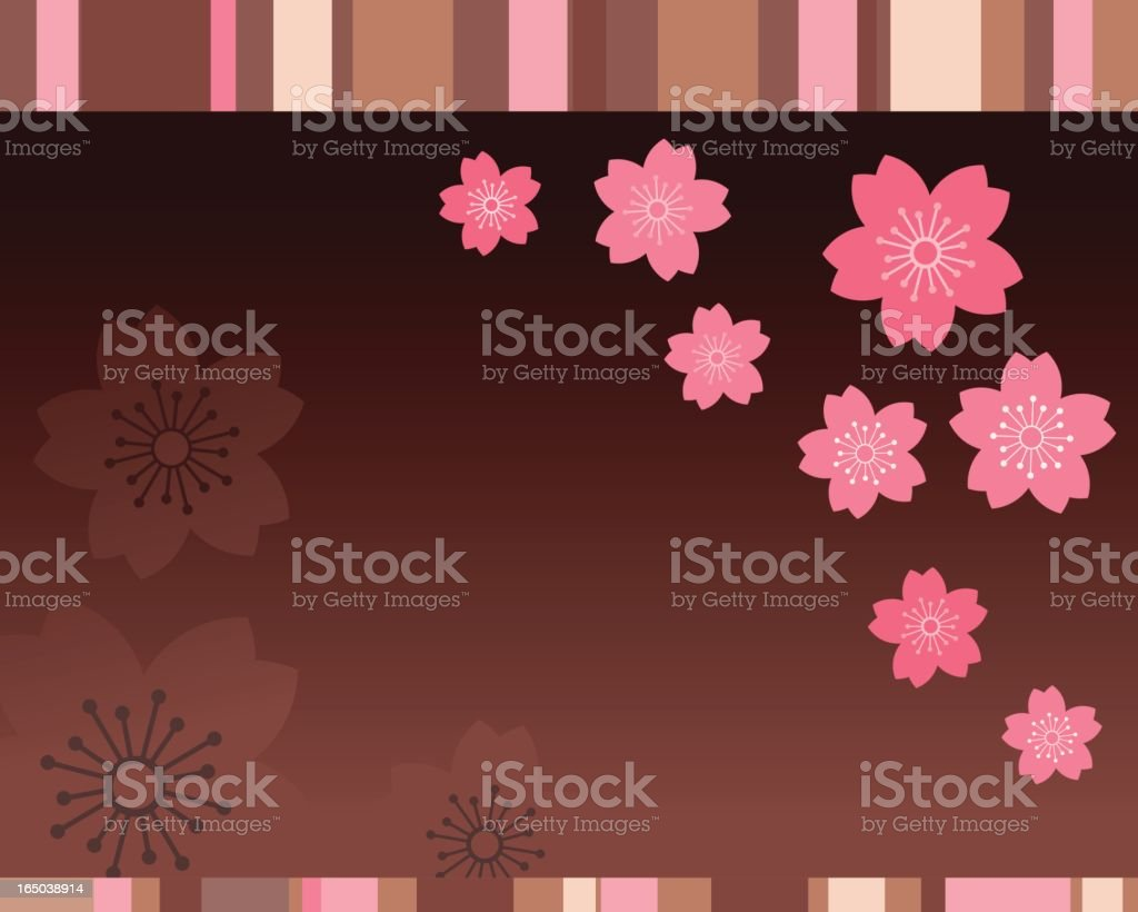 chocoberry flowers royalty-free stock vector art