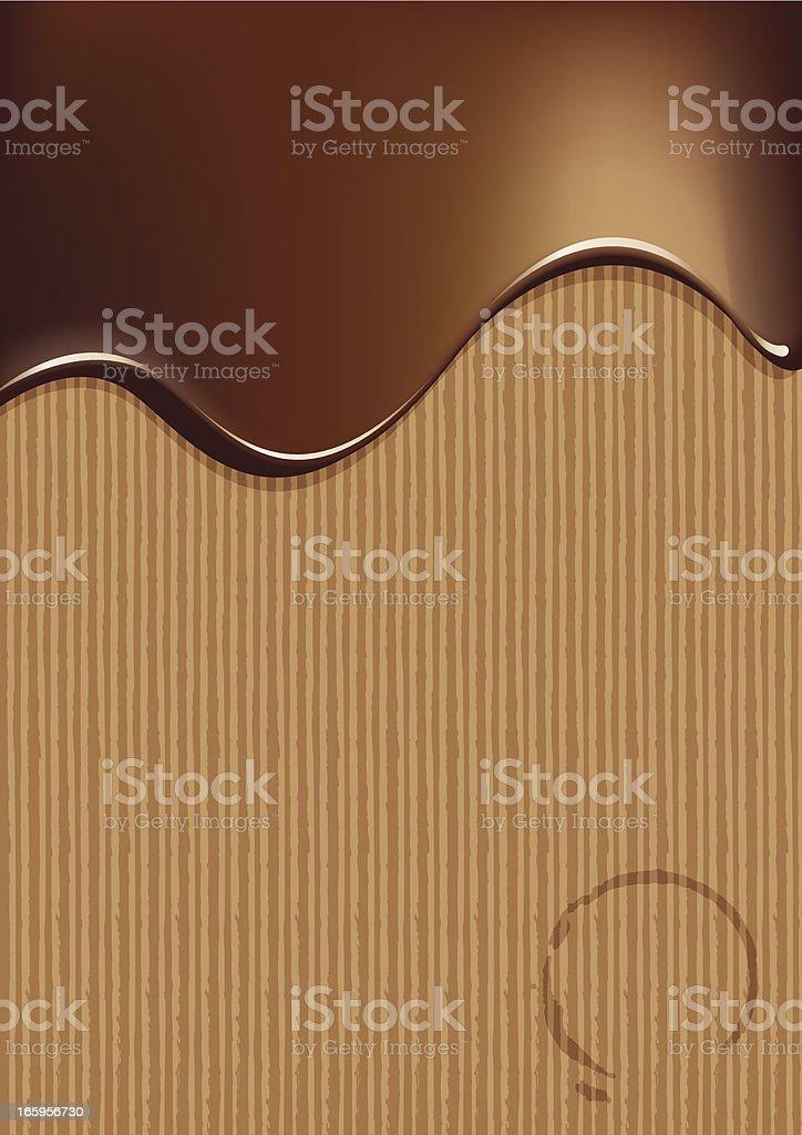 Chocolate abstract vector art illustration