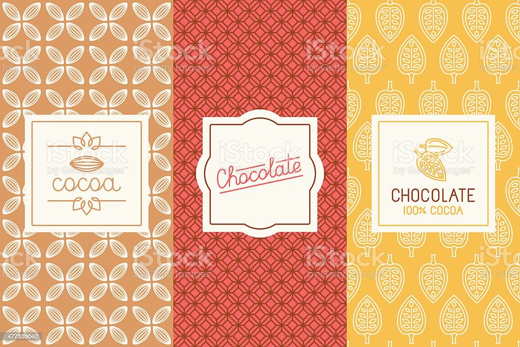Chocolate and cocoa packaging vector art illustration