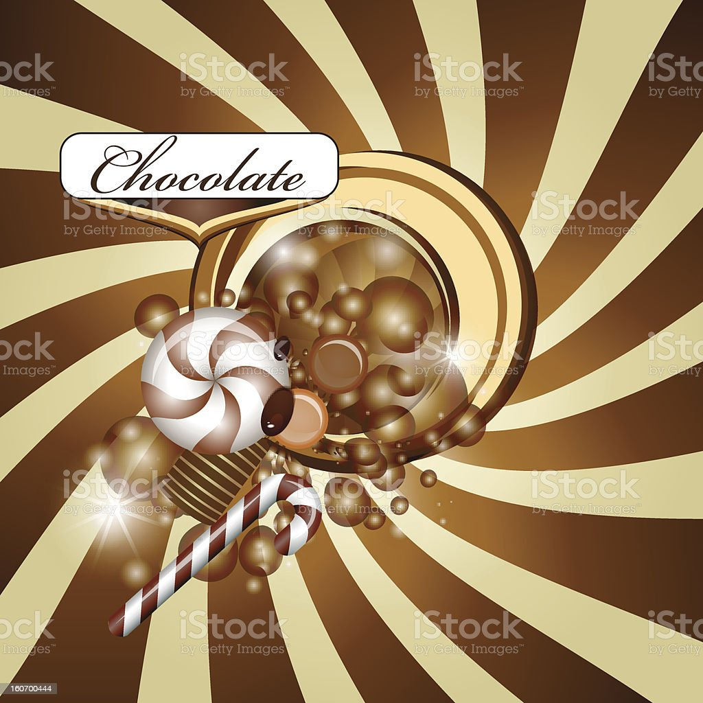 Chocolate background royalty-free stock vector art