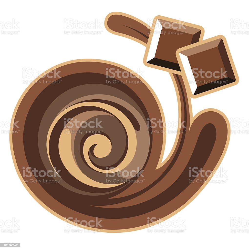 Chocolate background. royalty-free stock vector art