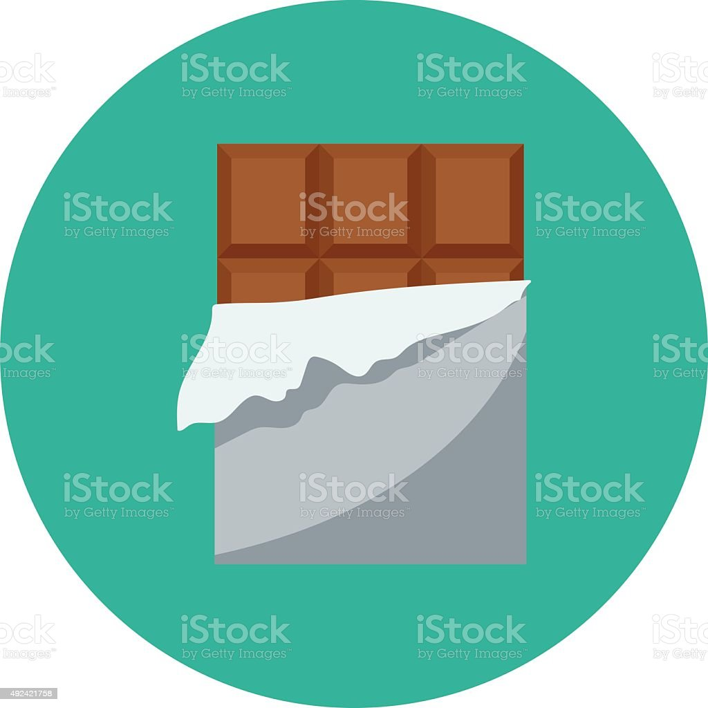 Chocolate Bar Colored Vector Icon vector art illustration