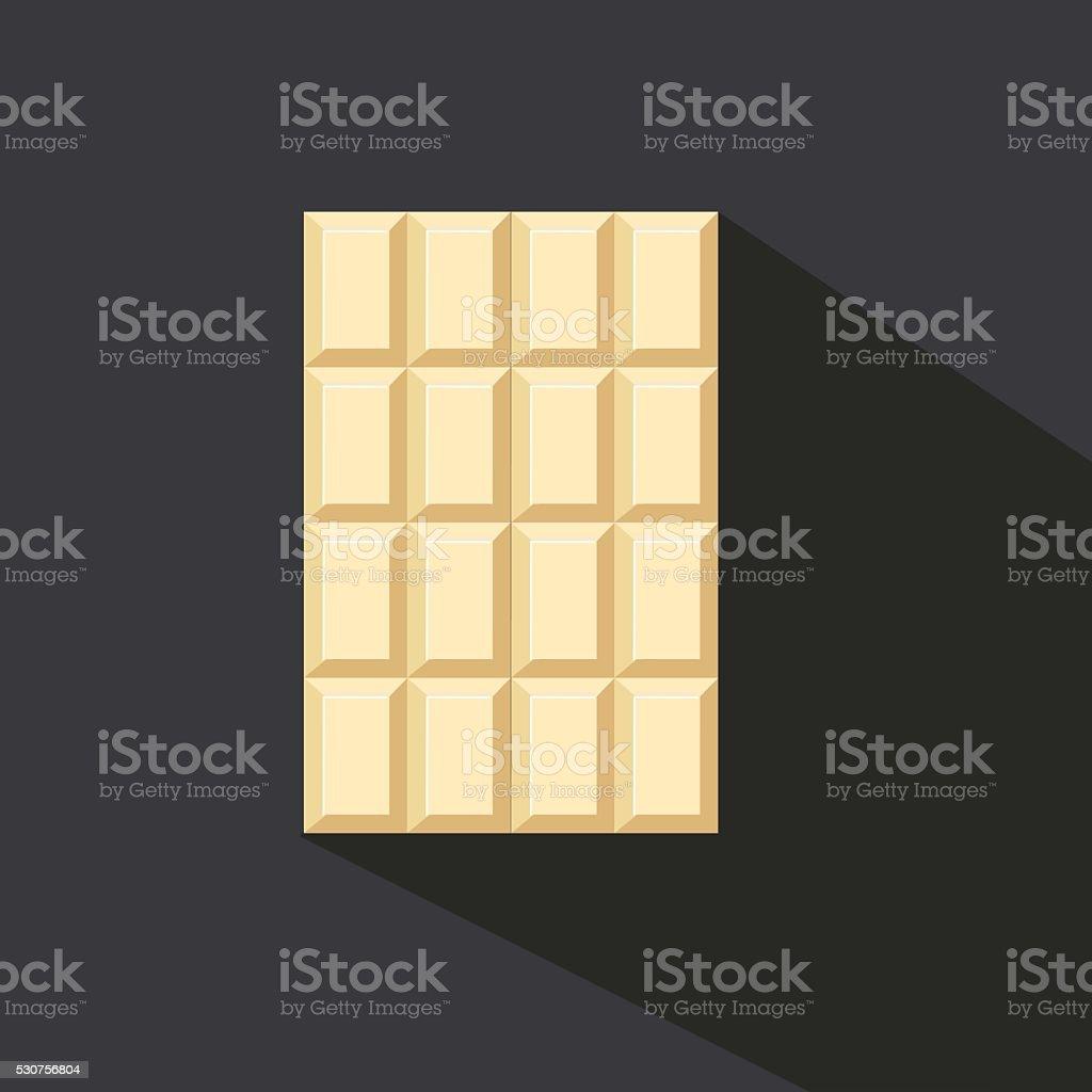 Chocolate bar icon, modern minimal flat design style, vector illustration vector art illustration