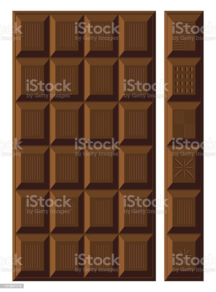 Chocolate bar. royalty-free stock vector art