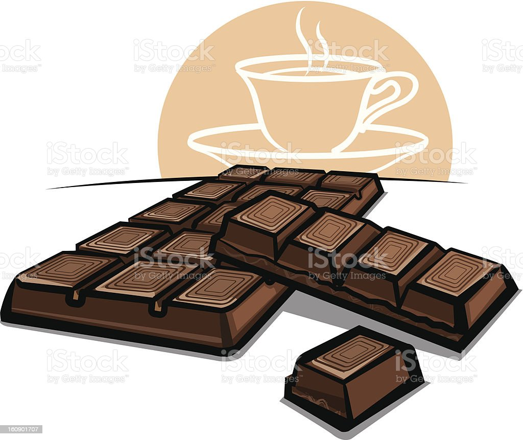 Chocolate bar royalty-free stock vector art