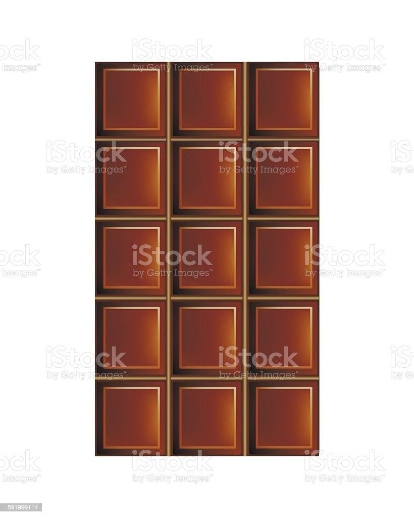 Chocolate Bar vector art illustration