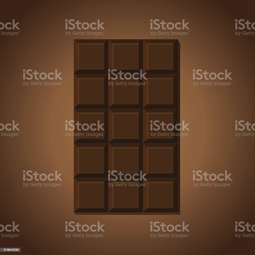 Chocolate bar vector art illustration