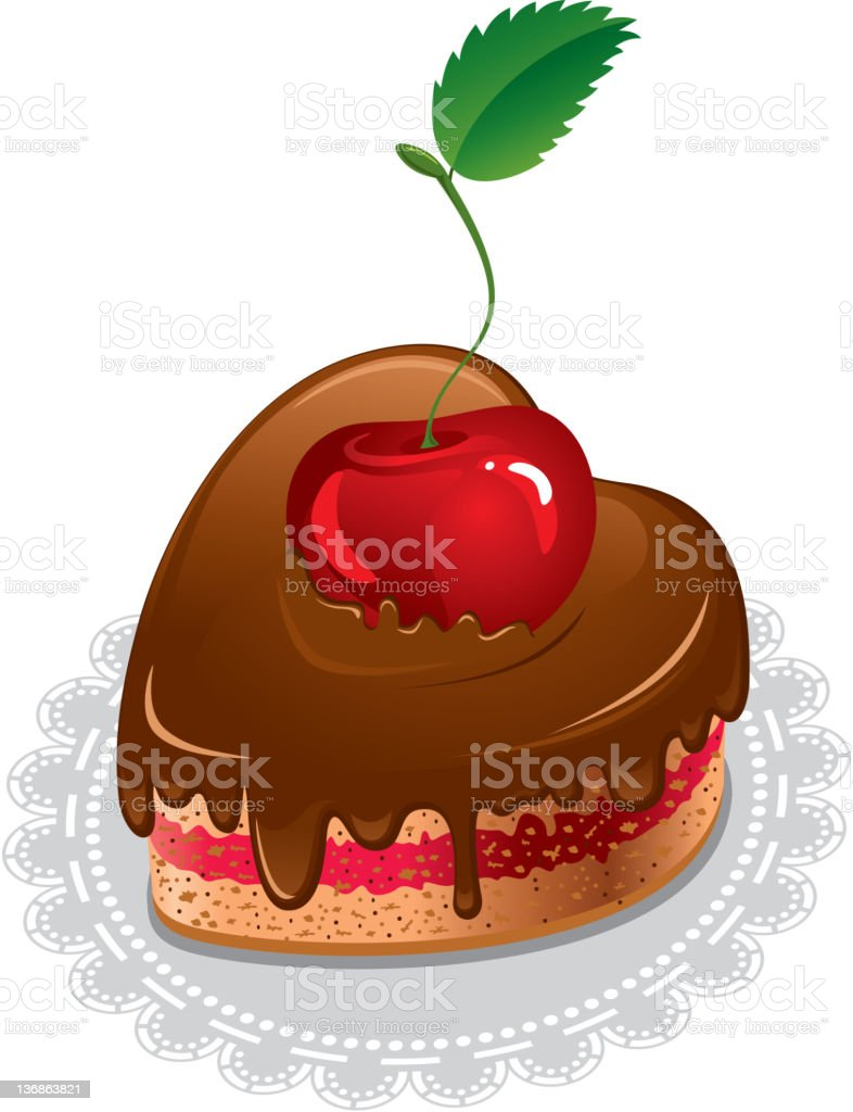 Chocolate cake royalty-free stock vector art