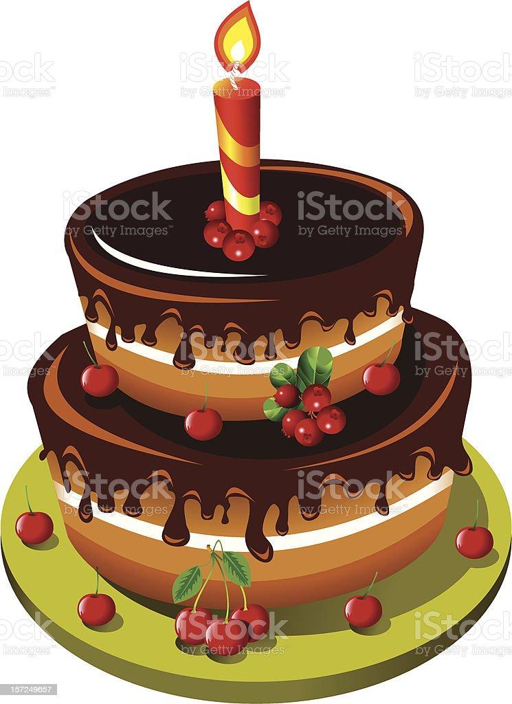 chocolate cake royalty-free stock vector art
