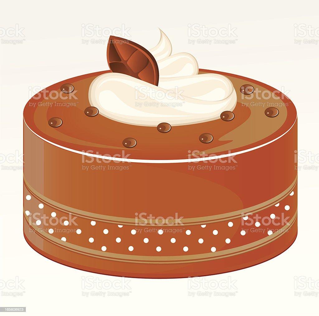 Chocolate Cake vector art illustration