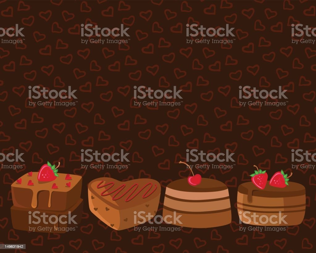 Chocolate Cakes royalty-free stock vector art