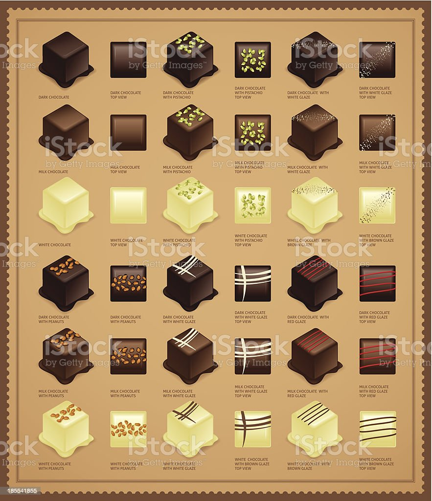 Chocolate Candies royalty-free stock vector art