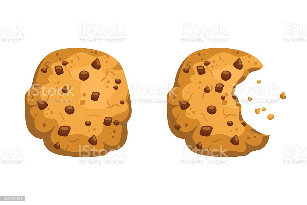 Chocolate Cookies vector art illustration