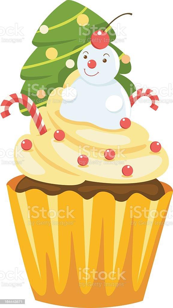 Chocolate cupcake vector royalty-free stock vector art