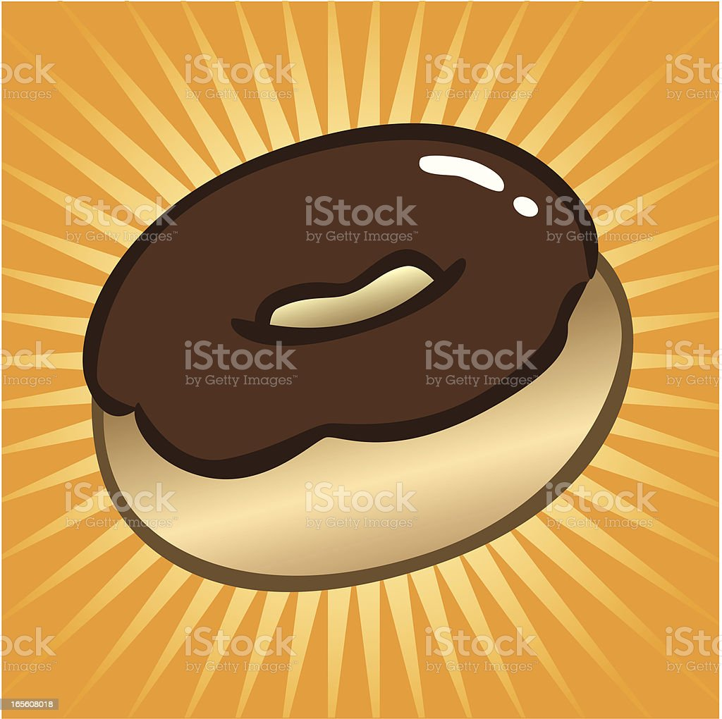Chocolate Donut Icon royalty-free stock vector art