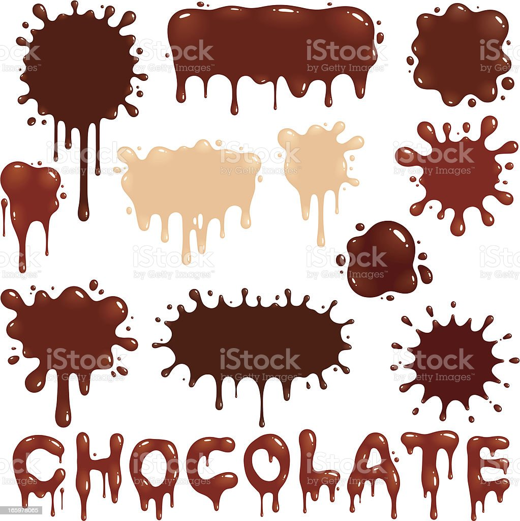 Chocolate Drops vector art illustration
