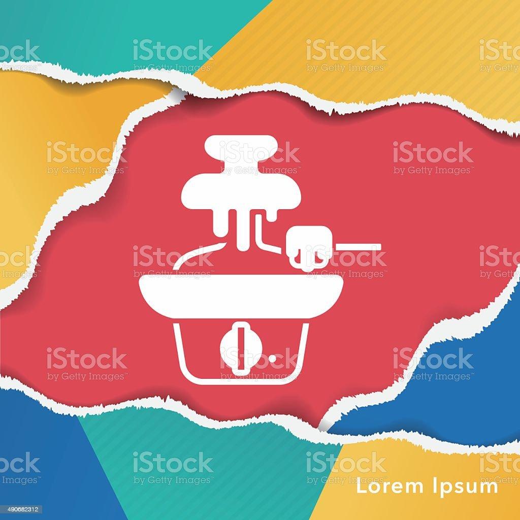 chocolate fountain icon vector art illustration