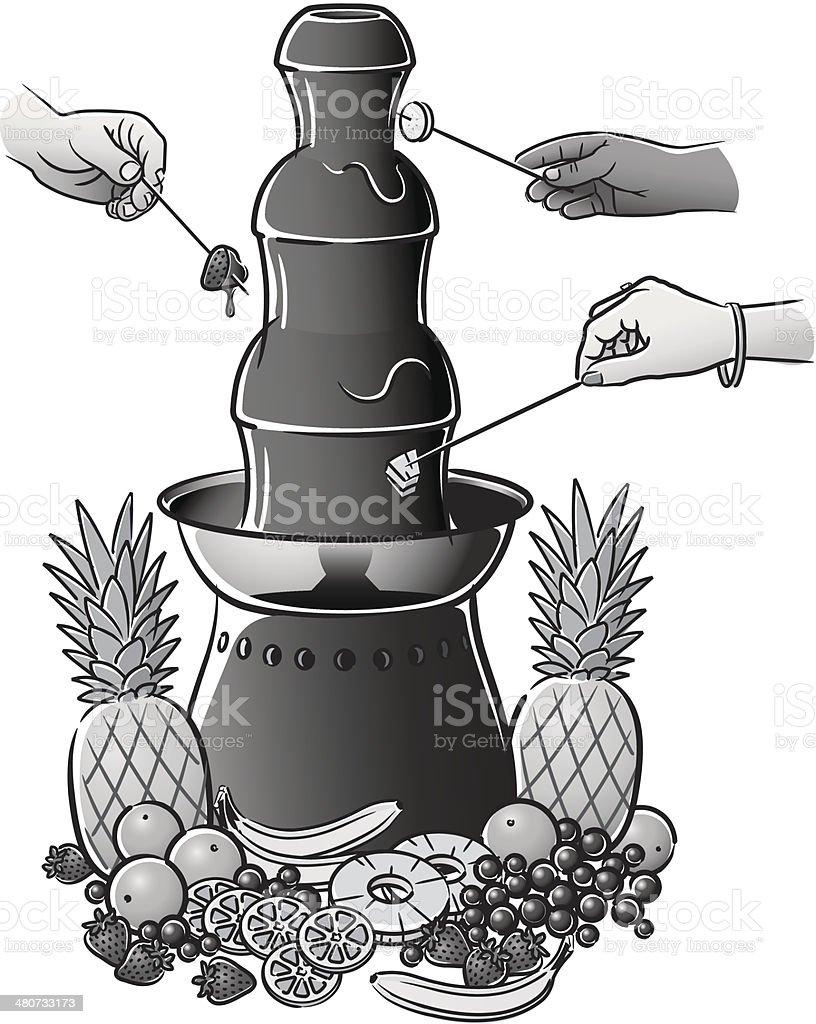 Chocolate Fountain vector art illustration