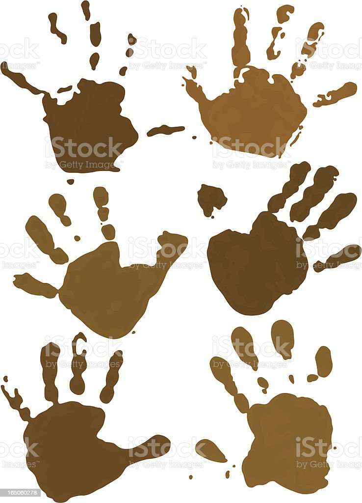Chocolate Hands vector art illustration