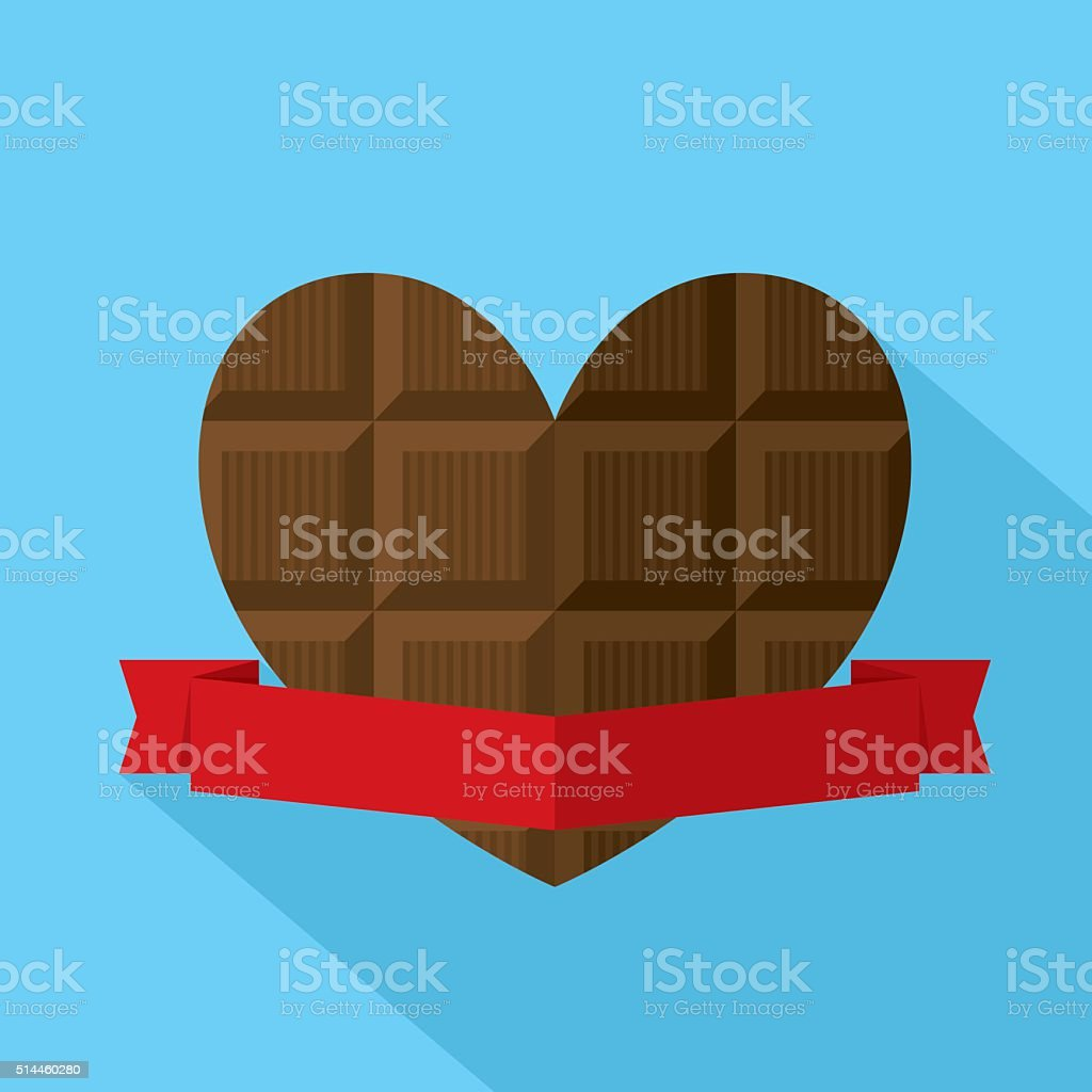 Chocolate Heart vector art illustration