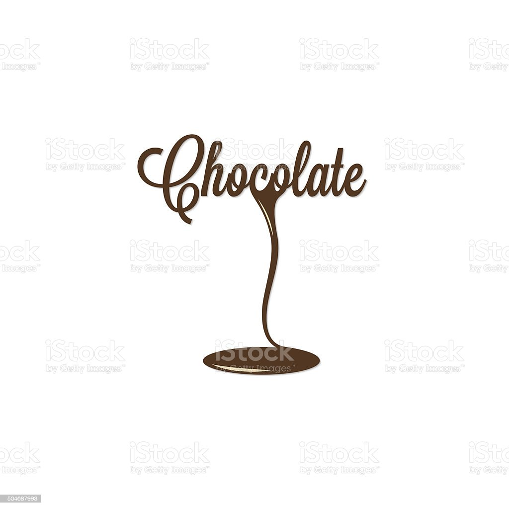 chocolate isolated sign vector art illustration