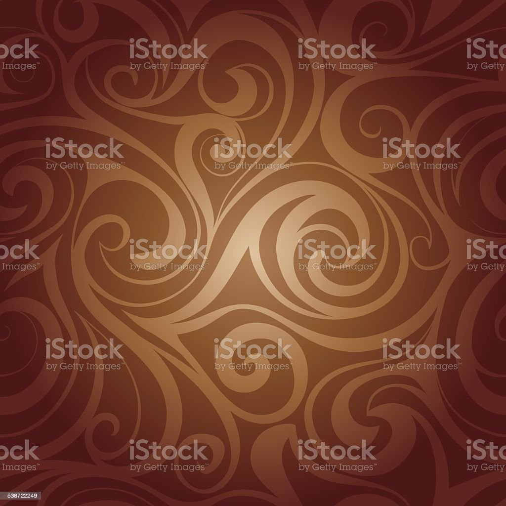 Chocolate liquid swirls vector art illustration