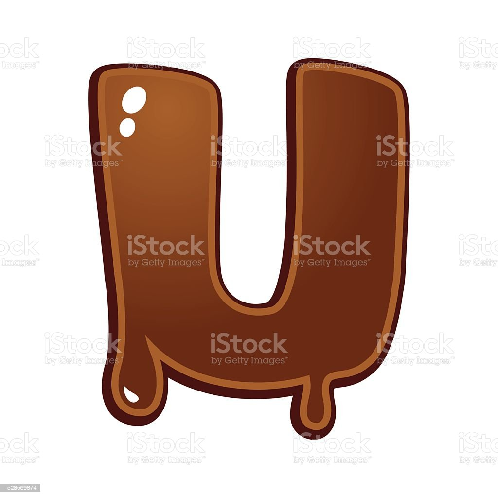 Chocolate Melt Font Type vector art illustration