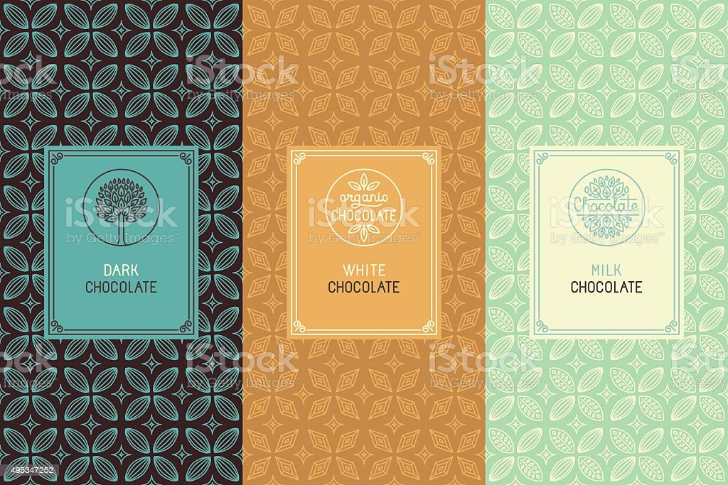 Chocolate packaging vector art illustration