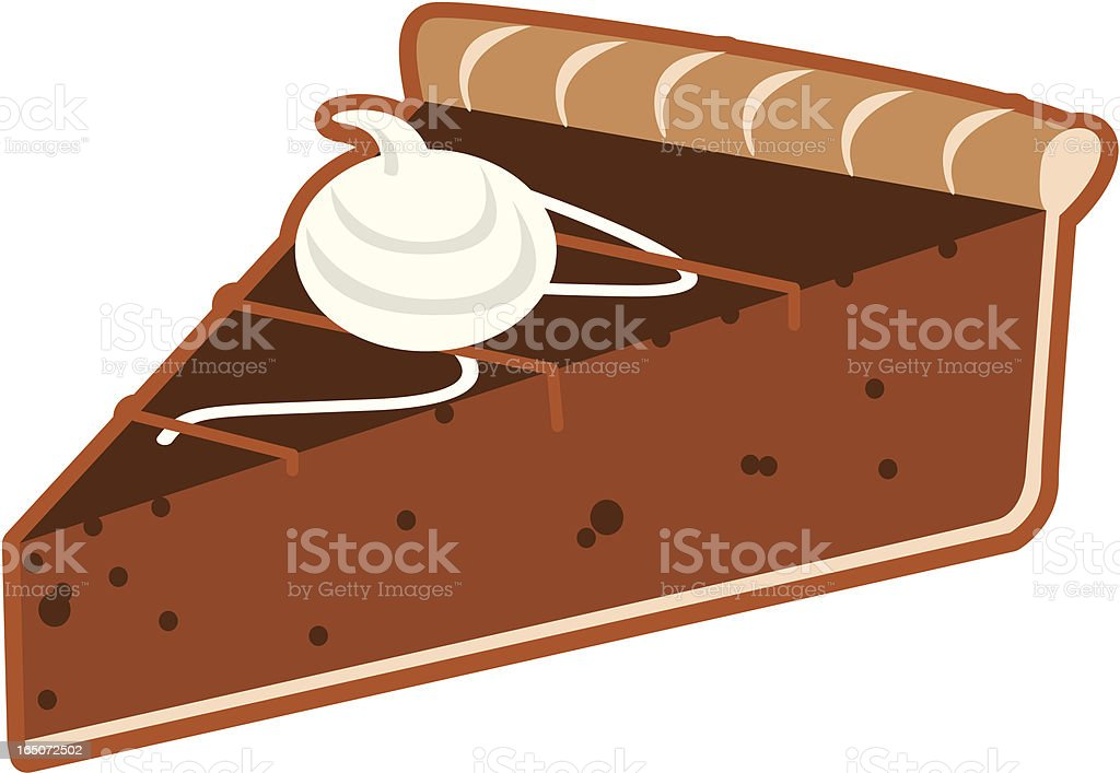 Chocolate pie slice royalty-free stock vector art