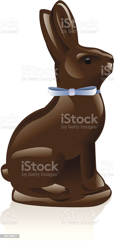 Chocolate Rabbit vector art illustration