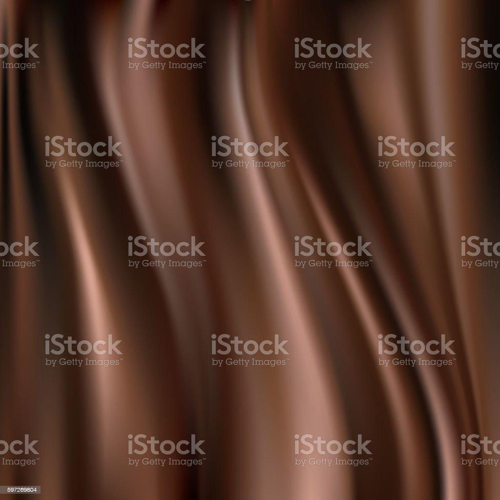 chocolate silk vector art illustration