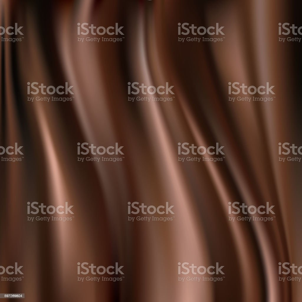 chocolate silk vector art illustration