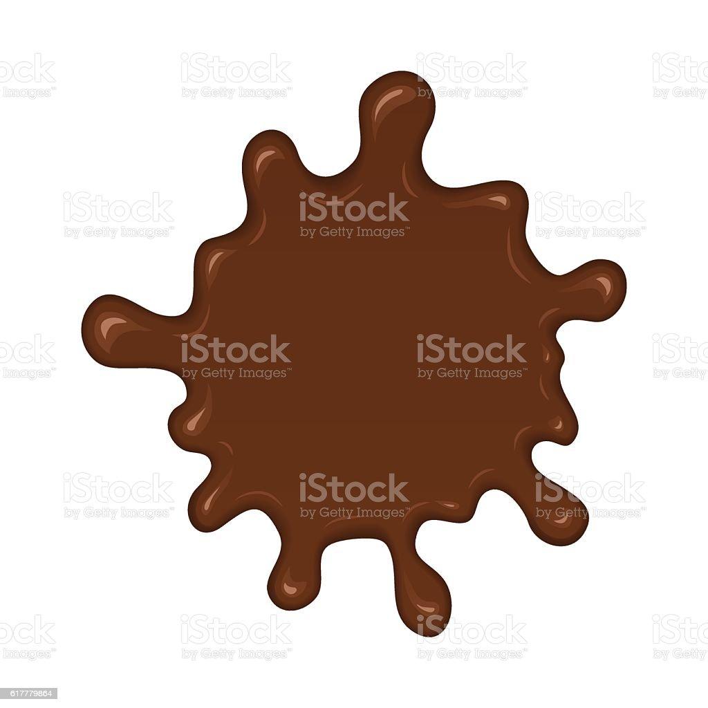 Chocolate splash blot vector art illustration