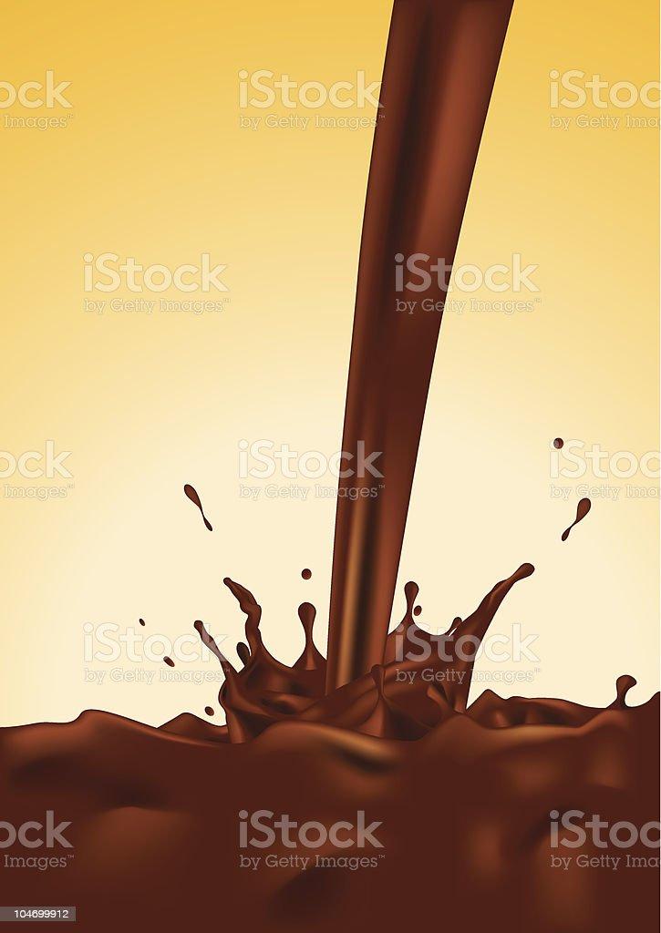 Chocolate Splash vector art illustration