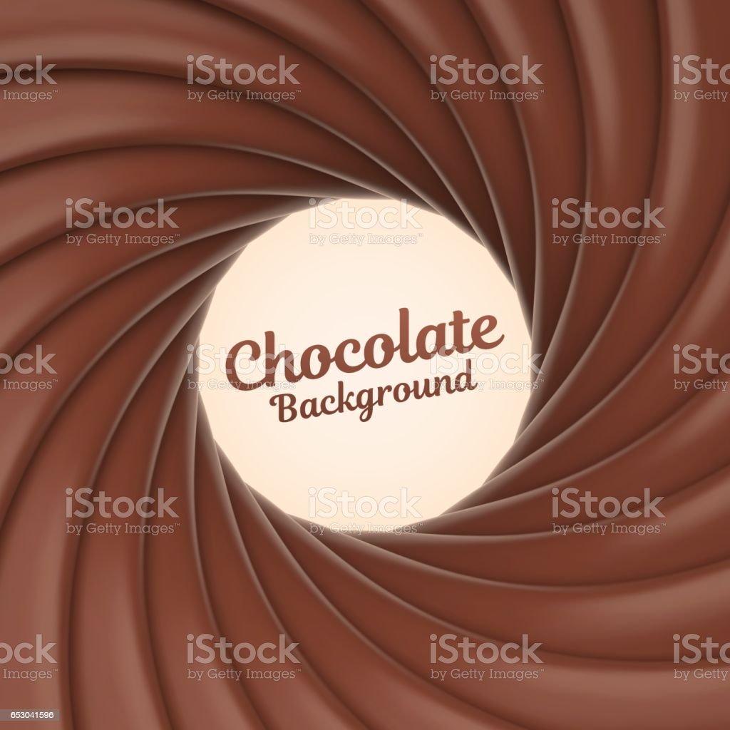 Chocolate swirl background vector art illustration