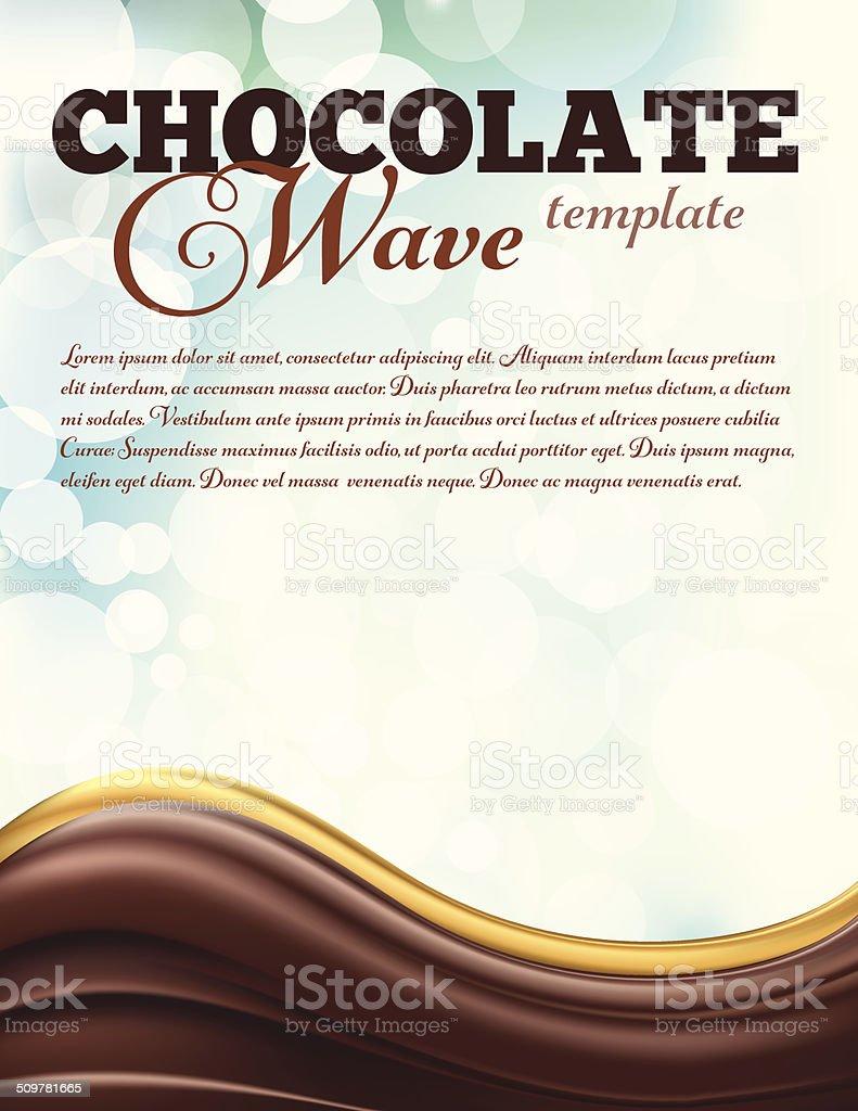 Chocolate Swirl Design Template vector art illustration