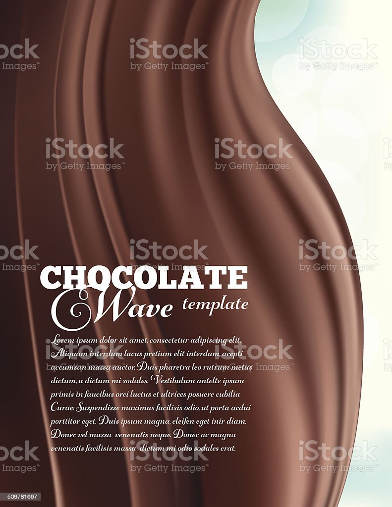 Chocolate Swirl Design Template vector art illustration