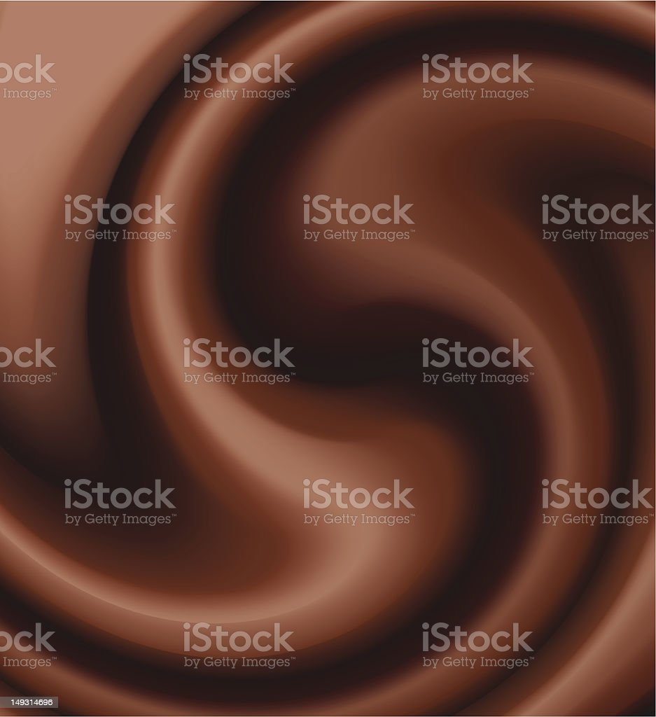 chocolate swirl royalty-free stock vector art