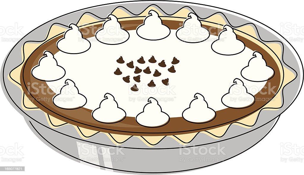 Chocolate tastic Cream Pie vector art illustration
